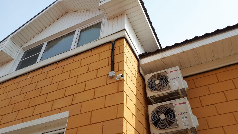 Пример установки камеры видеонаблюдения